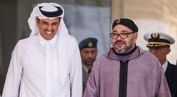 الملك محمد السادس والشيخ تميم بن حمد آل ثاني، أمير دولة قطر
