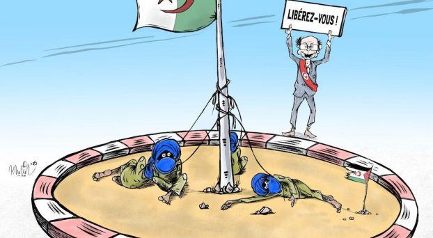 كاريكاتير: منصف المرزوقي يُدين بيع النظام الجزائري الوهم للصحروايين