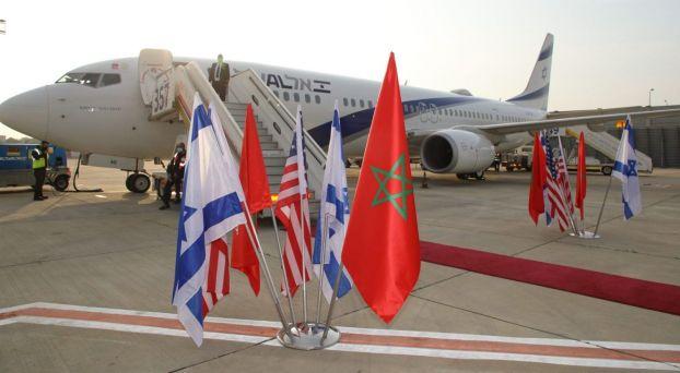 إقلاع طائرة الوفد الإسرائيلي-الأمريكي من تل أبيب إلى الرباط