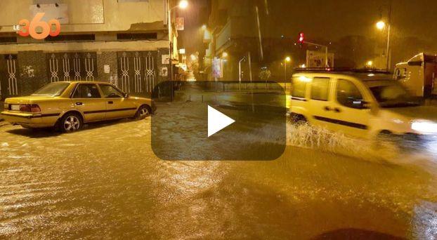 Cover : أمطار غزيرة تغرق شوارع وأزقة طنجة