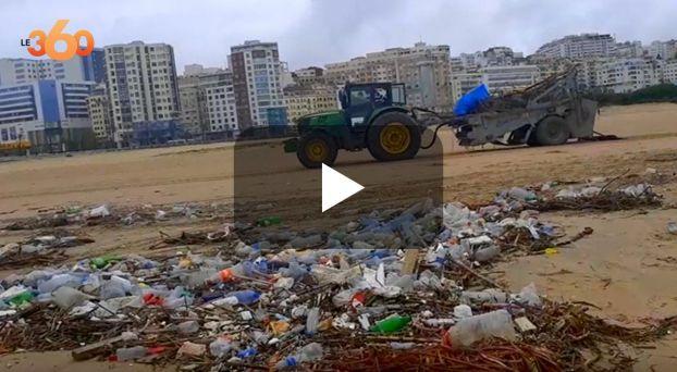 cover كمامات وبلاستيك يفسدان جمالية شاطئ طنجة البلدي
