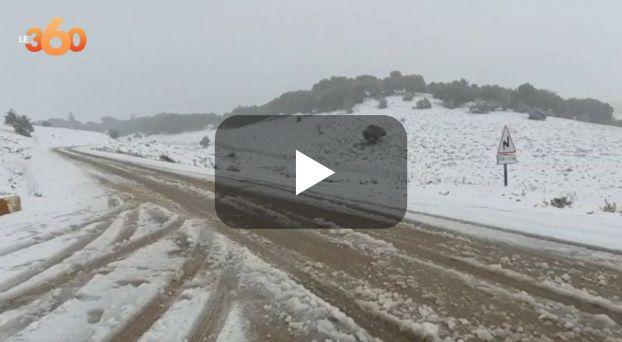 Cover Vidéo - الثلوج ترسم ردائها الأبيض بجبال بولمان