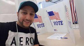 الداودي يصوت في أمريكا 1