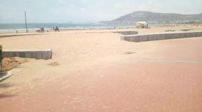 زحف الرمال على كورنيش أكادير 1