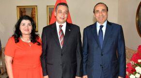 السفير المصري وزوجته ولحبيب مالكي