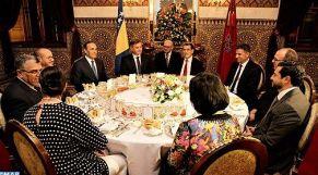 مأدبة ملكية لرئيس وزراء البوسنة