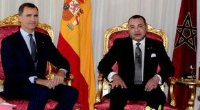 الملك والعاهل الاسباني
