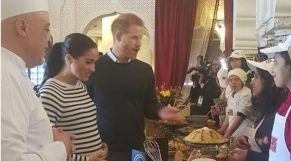 الأمير هاري وزوجته والشاف موحا