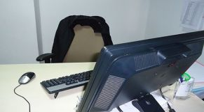 كرسي موظف فارغ
