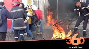 Cover vidéo - البيضاء. حريق بإحدى البنايات كاد يودي بحياة موظفيها