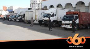 "cover vidéo :Le360.ma •إغلاق ""درب عمر"" بسبب كورونا يدخل أصحاب الشاحنات في أزمة خانقة"