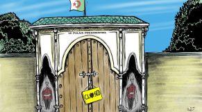 كاريكاتير: القصر الرئاسي الجزائري.. ويستمر الإغلاق!