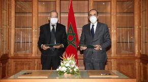 حبيب المالكي رئيس مجلس النواب، وفريد الباشا عميد كلية العلوم القانونية والاقتصادية والاجتماعية أكدال.