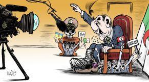 كاريكاتير: تبون ينغمس من جديد في ثرثرته الفارغة عبر قناة الجزيرة