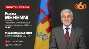 Cover-Teaser. Ferhat Mhenni: «La Kabylie est victime du racisme du régime militaire algérien»