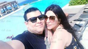 الفنانة عبير بيبرس رفقة زوجها القتيل