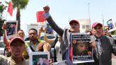 sit-in de solidarité avec Mustapha Salma Ould Sidi Mouloud, Devant Le CONSULAT d'ALGERIE  a casablanca 13 juin 2013