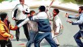 اعتداء عصابة عنف