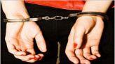 اعتقال امرأة