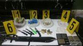 محجوزات أسلحة بيضاء مخدرات