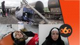 cover - Video -Le360.ma •  شهادات ناجحيات من حادث اصطدام قطار بطنجة مع سيارة نقل عمال