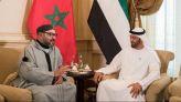 الملك محمد السادس وولي عهد الإمارات