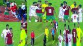 شجار لاعبي المنتخبين المغربي والتونسي