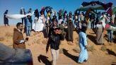 احتجاج في مخيم الرابوني