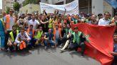 احتجاج عمال الأمتعة بمطار محمد الخامس