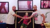 الفنان التشكيلي بلبشير يهدي إحدى لوحاته لللاعب أمرابط