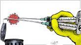 كاريكاتير: اللقاح.. الأمل القادم لإنهاء أزمة كورونا