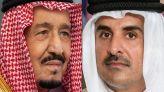 العاهل السعودي وأمير دولة قطر