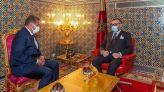 الملك محمد السادس يستقبل عزيز أخنوش، رئيس حزب التجمع الوطني للأحرار، بالقصر الملكي العامر بفاس.