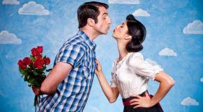 زوجين قبلة