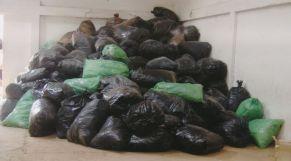 إتلاف أكياس بلاستيكية