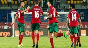 لاعبي المنتخب الوطني المغربي