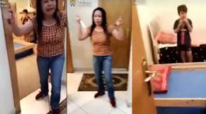 خادمة فليبينية تهدد طفل