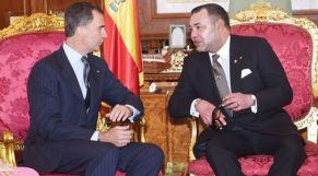 الملك والعاهل الإسباني