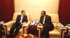 العثماني ونظيره في إثيوبيا