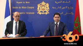 Cover_Vidéo: Le360.ma •Voici les autres points principaux évoqués à Rabat par Bourita et Le Drian