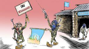 """كاريكاتير: بعد تحدّيهم للمينورسو.. بلطجية البوليساريو يهاجمون """"الأونروا"""""""