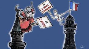 كاريكاتير أردوغان وماكرون
