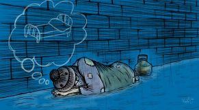 كاريكاتير متضرري الفيضان