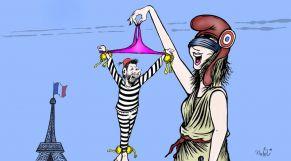 """كاريكاتير: القضاء الفرنسي يُعيد لمجرد إلى الجنايات بتهمة """"الاغتصاب"""""""