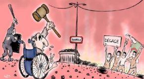 كاريكاتير: الشعب الجزائري يواصل التعبير عن غضبه تجاه النظام العسكري