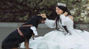 """هبة مبروك تعلن """"زواجها"""" من كلب"""