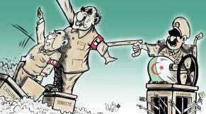 كاريكاتير: العسكر الجزائري يتلاعب بدُميتيْه تبون والعمامرة