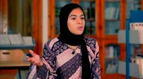 التلميذة المغربية سارة الضعيف، وصيفة بطل تحدي القراءة العربي 2020