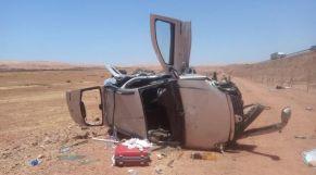 مصرع ستة أشخاص في حادثة سير شمال مدينة الداخلة
