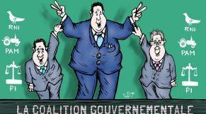 كاريكاتير: أخنوش يكشف عن مكونات الأغلبية الحكومية